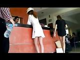 Up Skirt Video at Hotel Sexy Ass of Woman Filmed on Camera
