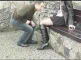 Kinky Horny Couple Having Sex in Public Place