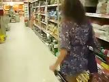Horny Amateur Wife Shows Her Naked Ass in Public Store