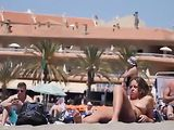 Amateur Nude Women at the Beach Filmed