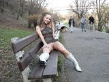 Exposed in Public Photo Woman Flashes Pussy in Park