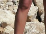 Hot Tanned Topless Pussy Spied at the Beach on Voyeur Cam