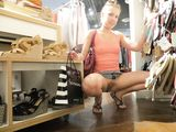Flashing Pussy Photo of Girlfriend in Public Clothing Store