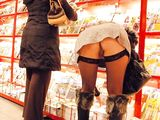 Upskirt Photo Woman in Public Store with No Panties On