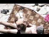 Amateur Couple Fucks on the Beach Not Knowing They are Filmed