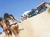 Sexy Girl in Bikini at the Beach Filmed on Candid Camera