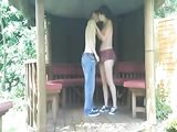 Outdoor Sex Amateur Couple Fucking on the Porch