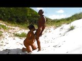 Black Couple Fucking Outdoor in the Sand Dunes