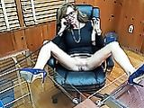 Naked woman at the office picture